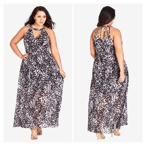 City Chic Graphic Print Maxi Dress Plus Size 20